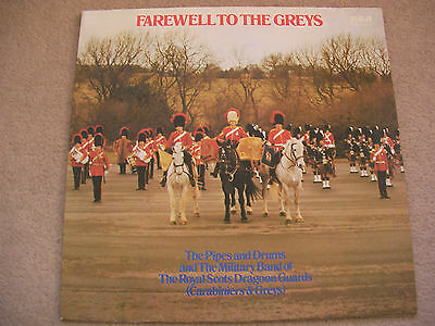 ROYAL SCOTS DRAGOON GUARDS - Farewell To The Greys -  LP Record RCA