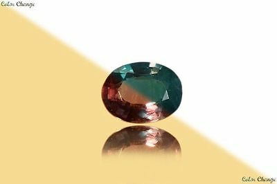 0.130 Ct Unique 100% Nr' Dancing Color Change Alexandrite Gemstone Aaa Oval~!!!!