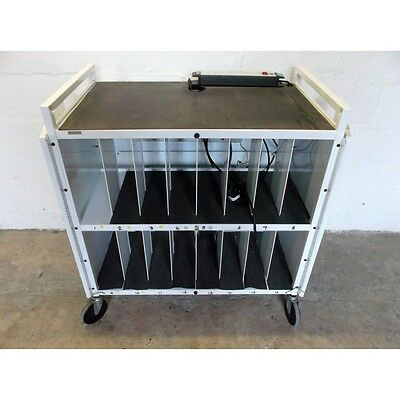Bretford 16-bay laptop rechargeable storage trolley - LAPTG154EUK-GM