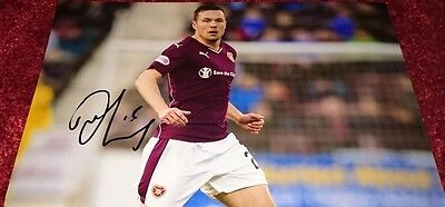 "Don Cowie signed 12x8"" hearts photo / COA"