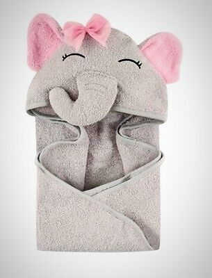 Soft Cute Child Elephant Towel Baby Girl Animal Face Hooded