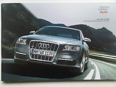 Audi A6 & S6 Pricing & Specification Guide Brochure 2008