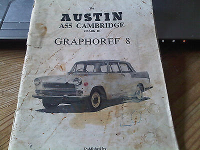 Austin A55 Mark II 2 Cambridge Graphoref 8 Parts Catalogue  Handbook Sized