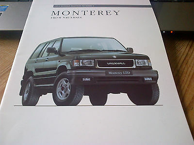 Vauxhall Monterey 1994 Models Edition Number 1 Brochure