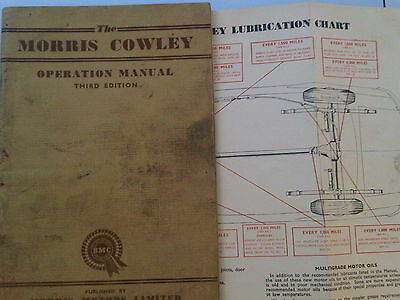 Morris Cowley Owners Operation Instruction Maintenance Handbook Manual