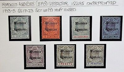 (B009) Gibraltar issue SG 17-23 Set of (7) Mint Hinged.