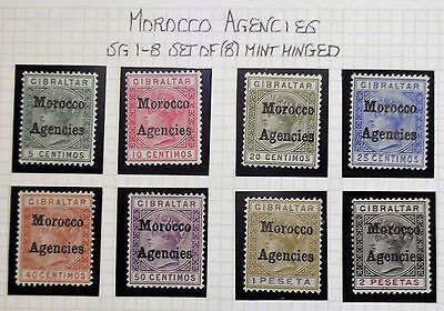 (B007) Gibraltar issue SG 1-8 Set of (8) Mint Hinged.