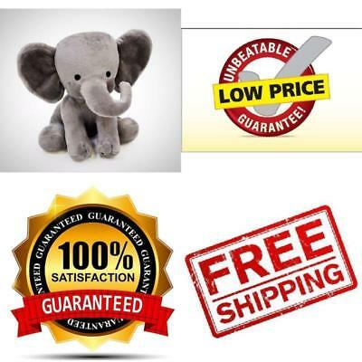 Toy Child Bedtime Elephant Grey Cute Plush Animal Stuffed Kids Play Toddler Baby