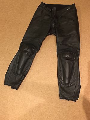 Men's Black Dainese Leather Trousers Size EU 54