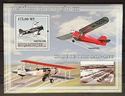 Flugzeuge Airplanes Avions Cargo Aircrafts Mosambik 2009 KB MNH ** Sheet #