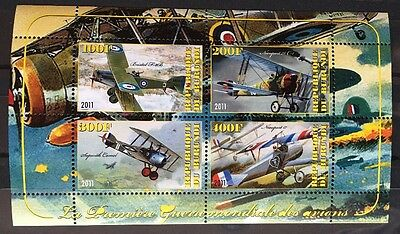Flugzeuge Airplanes Avions Cargo Aircrafts Burundi 2011 MNH ** KB Sheet