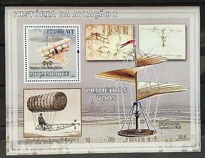 Flugzeuge Airplanes Avions Cargo Aircrafts Mosambik 2009 MNH ** KB Sheet #
