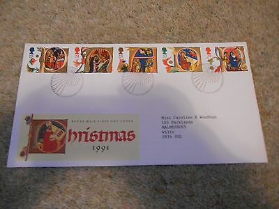 Stamps Great Britain Fdc 1991 Xmas.