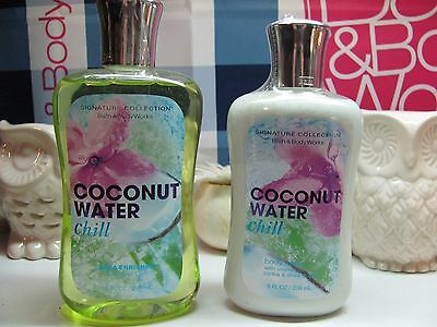 Bath and Body Works  ~ Coconut Water Chill ~ Lotion & Shower Gel *Discontinued *