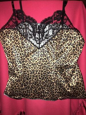 Leopard Lingerie Top Size Large Style 17–105