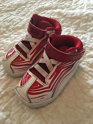 Toddler Air Jordan shoes, size 6C, Red/white