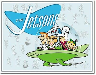 The Jetson's Family Retro Cartoons TIN SIGN Wall Poster Decor