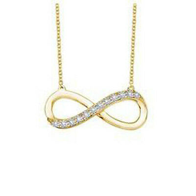 Lafonn SMALL INFINITY NECKLACE N2013CLR18 18 Inch