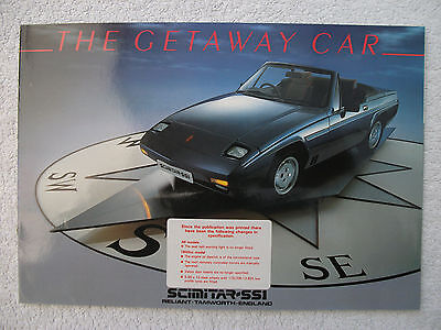 Reliant Scimitar SS1 brochure c1986 -1300 & 1600 models