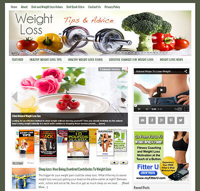 * DIET & WEIGHT LOSS * website business for sale w/ DAILY AUTO CONTENT UPDATES