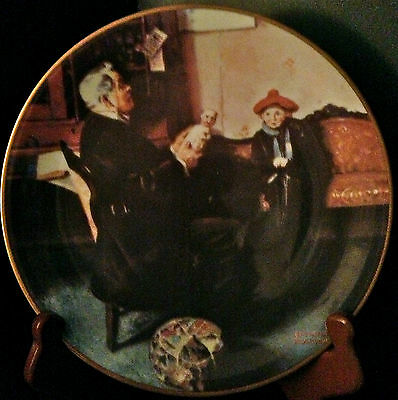 The Doctor and The Doll/ Norman Rockwell Plate
