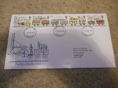 Stamps Great Britain Fdc 1980 Railways.