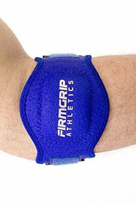 2 Pack of FirmGrip Athletics Tennis Elbow Support Brace | Blue | One Size