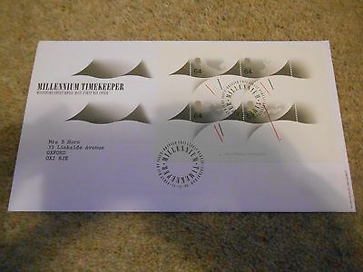 Stamps Great Britain  Fdc 1999 Millennium Timekeeper Sheet.