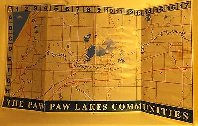 THE PAW PAW LAKES COMMUNITIES Brochure & Map Coloma Michigan