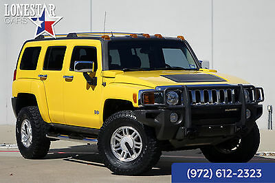 2006 Hummer H3 Base Sport Utility 4-Door 2006 Yellow Clean Carfax!