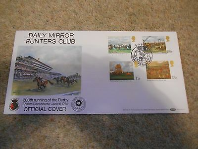 Stamps Great Britain Fdc 1979 The Derby Has Better Handstamp.