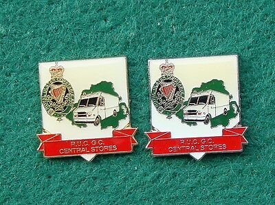 RUC Royal Ulster Constabulary Police CENTRAL STORES tie tac pin badges