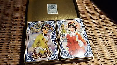 Vintage Thomas De La Rue Double Deck Of Playing Cards Sealed With Box