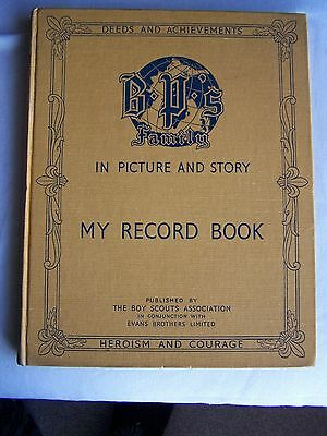 Baden Powell Boy Scout Record Book (1940's)