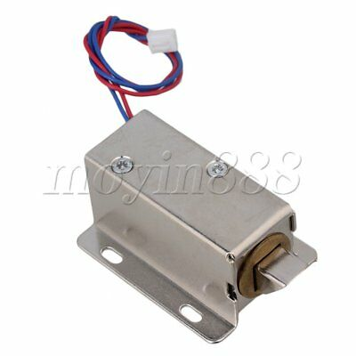 TFS-A21 Cabinet Door Electric Lock Assembly Solenoid 12V Lock Tongue Down