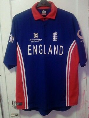Men's England Cricket Shirt, 2003 Cricket World Cup Size L. Superb Condition.