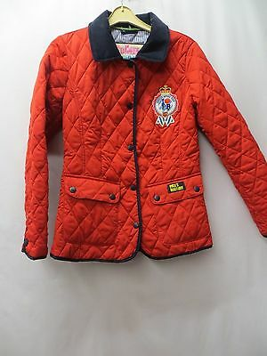 Red Quilted Jacket Size 10 By Pauls Boutique