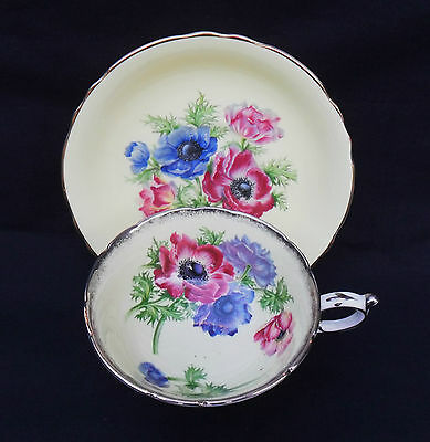 Paragon Vintage Cabinet China Tea Cup And Saucer - Anemones - C1950S.
