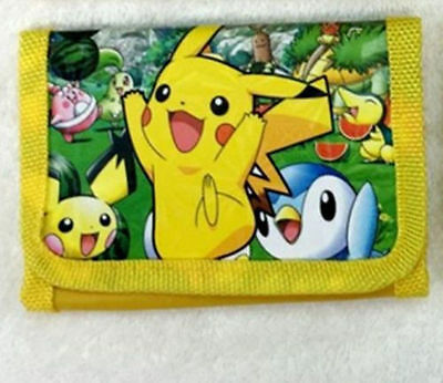 Kids Pokemon Go Pikachu Coin Money Pouch Bags Purse Wallet Xmas Gifts h