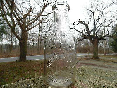 Distelhorst Milk Co. Columbus Ohio Quart Embossed Milk Bottle