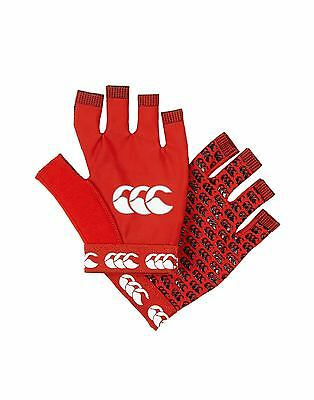 Canterbury Pro Grip Rugby Mitt Red Gloves Size Large