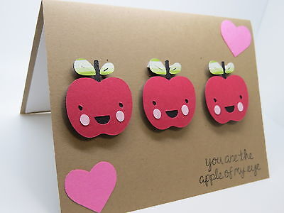You're the apple of my eye 3x apples greeting card