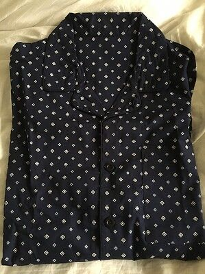 Men's Cotton Navy Blue Pyjamas Size M