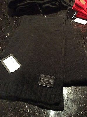 BNWT  DSQUARED2  BLACK WOOL MIX SCARF 51 inch x 7 inch AGE FROM 4+ �� TAG £72