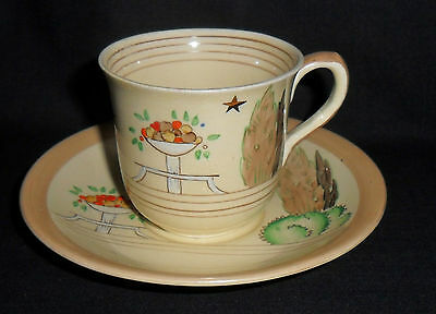 C1930S Clarice Cliff Coffee Cup And Saucer - Wilkinson.