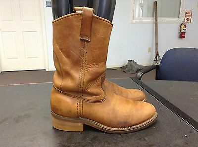 Red Wing Brown Leather Steel Toe Western Work Boots Mens Size 8.5