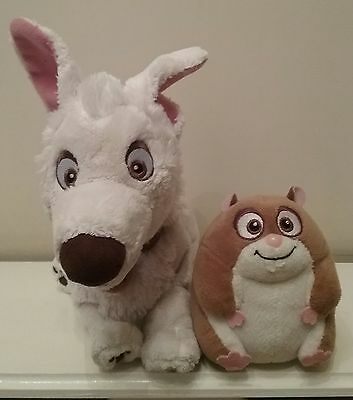 The Disney Store Bolt Dog And Hamster Soft Toys
