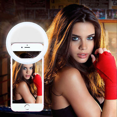 36LED Selfie Ring Fill Light Camera Photography For Android iphone White