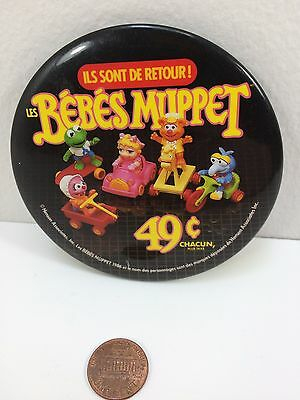 Vintage 1986 Mcdonalds Baby Muppets Canadian button pinback badge collectible