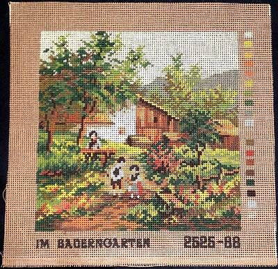 Monika Design Printed Tapestry Needlepoint Canvas In Country Garden Flowers